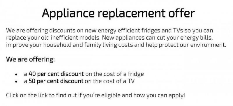 Appliance Replacement Offer