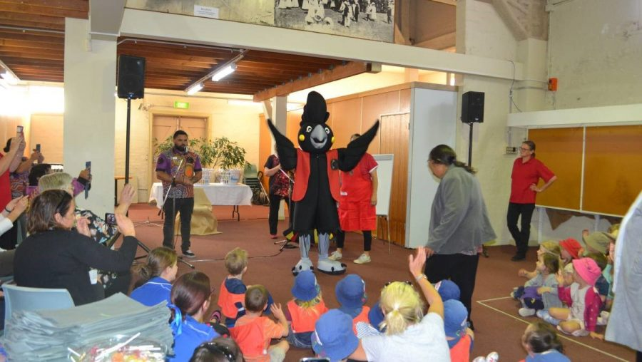 Paint Shoalhaven REaD, Black and Yellow Mascot Launch